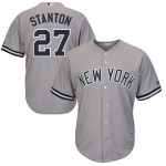 New York Yankees Giancarlo Stanton Majestics Road Cool Base Replica Player Jersey - Mens