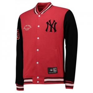 New York Yankees Letterman Jacket - Red - Mens
