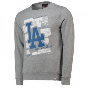 Los Angeles Dodgers Graphic Sweatshirt - Grey Marl - Mens