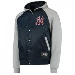New York Yankees Hooded Jacket - Silver Marl - Mens