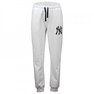 New York Yankees Slim Joggers - White - Mens
