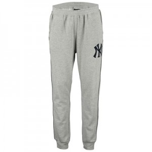 New York Yankees Fleece Joggers - Grey  Mens