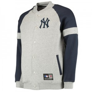 New York Yankees Letterman Jacket - Grey - Mens