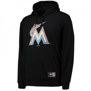 Miami Marlins Prism Hoody - Black - Mens