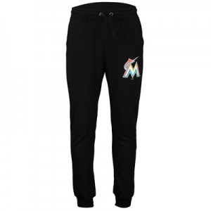 Miami Marlins Joggers - Black - Mens