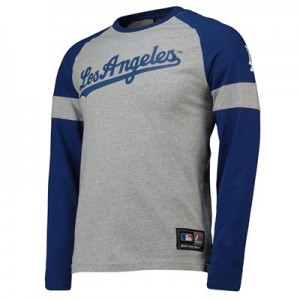 Los Angeles Dodgers Eldon LS T-Shirt - Grey - Mens