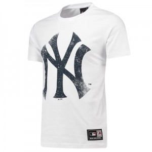 New York Yankees Large Logo T-Shirt - White - Mens