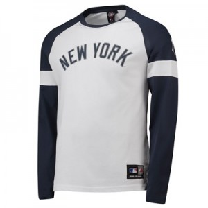 New York Yankees Eldon LS T-Shirt - White - Mens