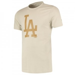 Los Angeles Dodgers New Era Seasonal Team Logo T-Shirt - Stone - Mens