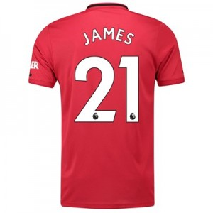 Manchester United Home Shirt 2019 - 20 with James 21 printing