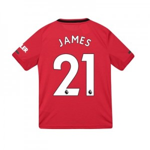Manchester United Home Shirt 2019 - 20 - Kids with James 21 printing