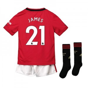 Manchester United Home Mini Kit 2019 - 20 with James 21 printing