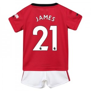 Manchester United Home Baby Kit 2019 - 20 with James 21 printing