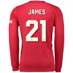 Manchester United Home Cup Shirt 2019 - 20 - Long Sleeve with James 21 printing