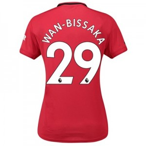 Manchester United Home Shirt 2019 - 20 - Womens with Wan-Bissaka 29 printing
