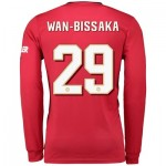 Manchester United Cup Home Shirt 2019 - 20 - Long Sleeve with Wan-Bissaka 29 printing