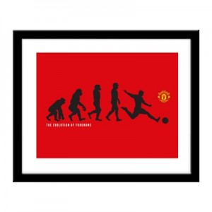 Manchester United Personalised Evolution Print