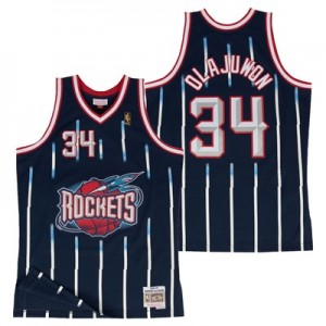 Houston Rockets Hakeem Olajuwon Hardwood Classics Road Swingman Jersey - Mens