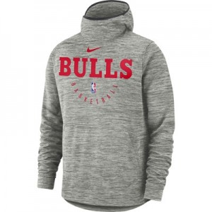 Chicago Bulls Nike Spotlight Hoodie - Carbon Heather - Mens