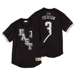 NBA 2004 All Star East Allen Iverson Black & White Mesh Name & Number Crew - Mens