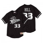 Detroit Pistons Grant Hill Black & White Mesh Name & Number Crew - Mens