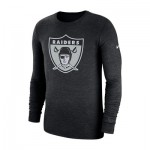 Oakland Raiders Nike Tri Historic Crackle Long Sleeve T-Shirt - Mens