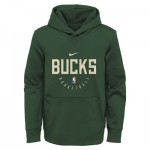 Milwaukee Bucks Nike Elite Practise Spotlight Fleece Hoodie - Youth