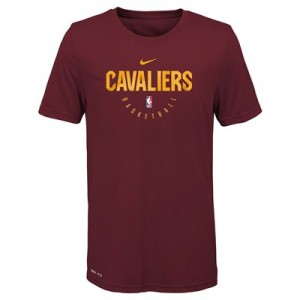 Cleveland Cavaliers Nike Elite Practise Short Sleeve Top - Youth