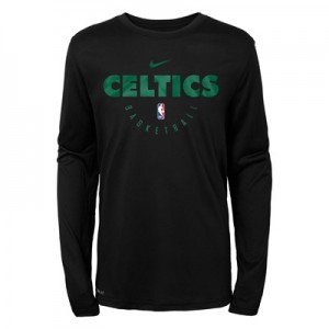 Boston Celtics Nike Elite Practise Long Sleeve Top - Youth