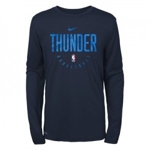 Oklahoma City Thunder Nike Elite Practise Long Sleeve Top - Youth