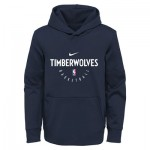Minnesota Timberwolves Nike Elite Practise Spotlight Fleece Hoodie - Youth
