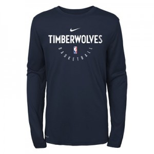 Minnesota Timberwolves Nike Elite Practise Long Sleeve Top - Youth