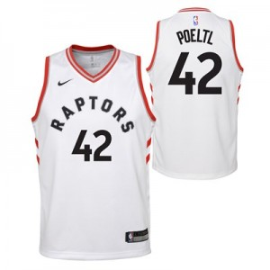 Toronto Raptors Nike Association Swingman Jersey - Jakob Poeltl - Youth