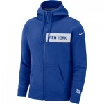 New York Giants Nike FZ Fleece Club Hoodie - Mens