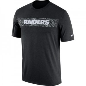 Oakland Raiders Nike Dri-Fit Onfield Legend Seismic T-Shirt - Mens
