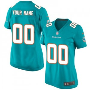 Miami Dolphins Home Game Jersey - Custom - Womens