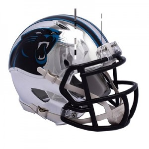 Carolina Panthers Chrome Alternate Speed Mini Helmet