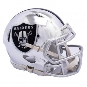 Oakland Raiders Chrome Alternate Speed Mini Helmet