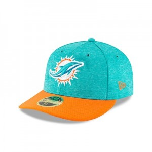 Miami Dolphins New Era Official Sideline Home Low Profile 59FIFTY Fitted Cap