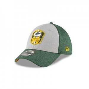 Green Bay Packers New Era Official Sideline Road 39THIRTY Stretch Fit Cap
