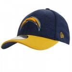 Los Angeles Chargers New Era Official Sideline Home 39THIRTY Stretch Fit Cap