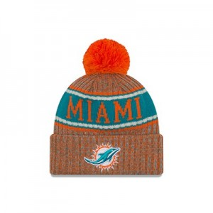 Miami Dolphins New Era Official Cold Weather Reverse Team Colour Sport Knit