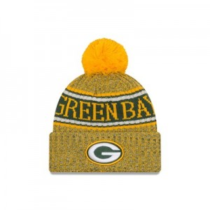 Green Bay Packers New Era Official Cold Weather Reverse Team Colour Sport Knit