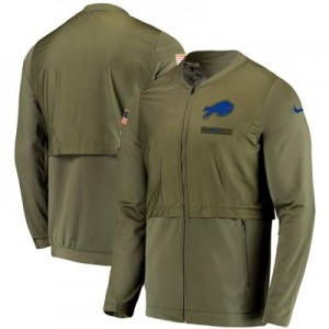 Buffalo Bills Nike FZ Elite Hybrid Salute to Service Jacket - Mens