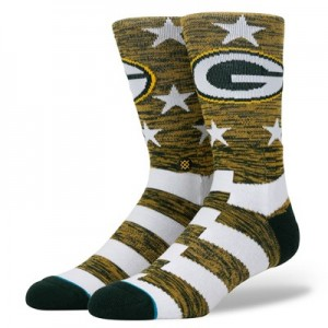Green Bay Packers Stance Banner Sock - Mens