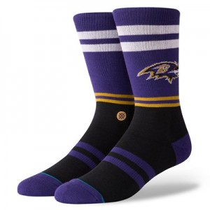 Baltimore Ravens Stance Logo Sock - Mens
