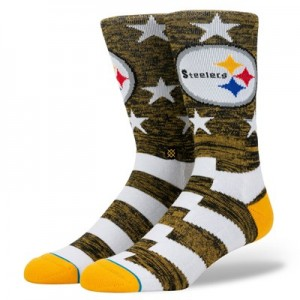 Pittsburgh Steelers Stance Banner Sock - Mens