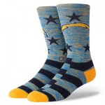 Los Angeles Chargers Stance Banner Sock - Mens