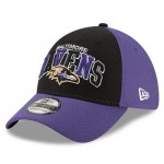 Baltimore Ravens New Era 2019 Official Home Sideline 1995-02 39THIRTY Stretch Fit Cap