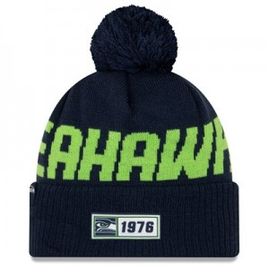 Seattle Seahawks New Era 2019 Official Cold Weather Road Knit